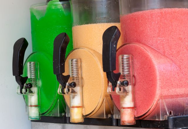 Slushie machine with three choices